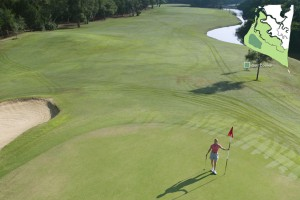Aerial Golf Course View