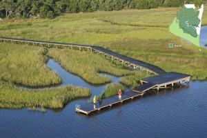 Marsh Dock Aerial View