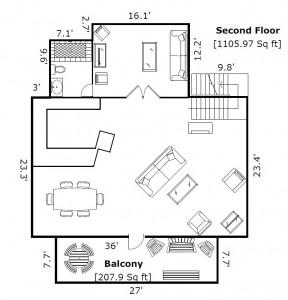 6 Kinross Court Bald Head Island - Floor Plan: Second Floor