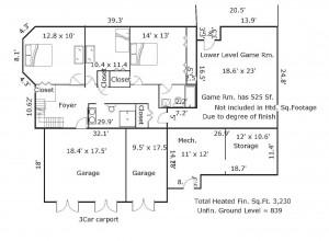 9 Bayberry Ct Bald Head Island - Floor Plan: First Floor