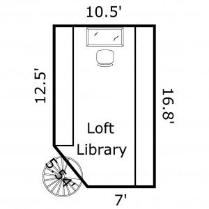 9 Bayberry Ct Bald Head Island - Floor Plan: Loft Library