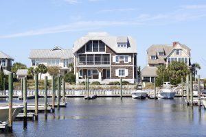 207 Row Boat Row Bald Head Island - Front of Home across the Harbour