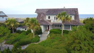 9 East Beach Drive Bald Head Island - Front of Home Aerial View