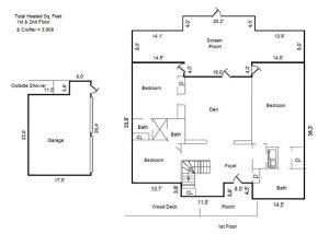 111 N Bald Head Wynd Bald Head Island - Floor Plan: First Floor