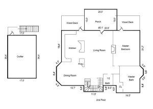 111 N Bald Head Wynd Bald Head Island - Floor Plan: Second Floor