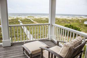 18 Brown Pelican Bald Head Island - Back Porch View