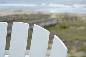 Beach with Adirondack Chair Picture