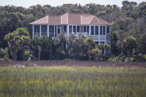 519 Currituck Way Bald Head Island - Back of Home - Rental Property