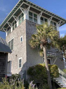 3 Row Boat Row Bald Head Island - Side View - For Sale