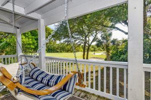 106 North Bald Head Wynd Bald Head Island - Porch Swing View - For Sale