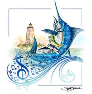 Bald Head Island Fishing Logo