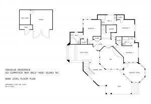 Lower Level Floor Plans for Listing at 512 Currituck Way, Cape Fear Station, Bald Head Island, NC
