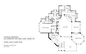 Upper Level Floor Plans for Listing at 512 Currituck Way, Cape Fear Station, Bald Head Island, NC